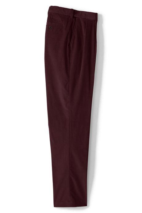 Men's Comfort Waist Pleated Comfort-First Corduroy Dress Pants