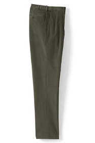Men's Comfort Waist Pleated Comfort-First Corduroy Dress Pants