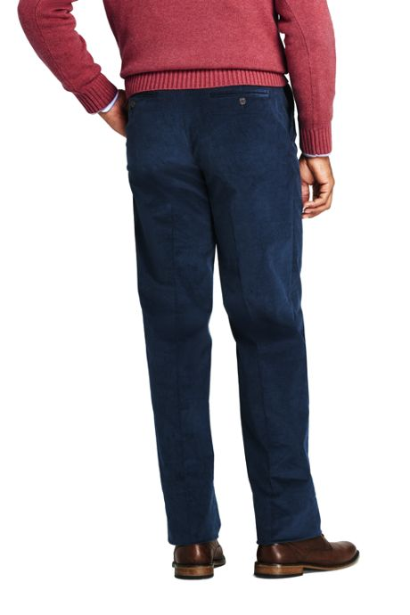 Men's Comfort Waist Pleat Front Comfort-First Corduroy Trousers