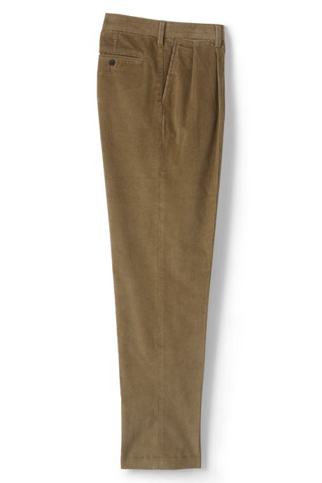 Men's Traditional Fit Pleat Front Comfort-First 10 Wale Corduroy Trousers