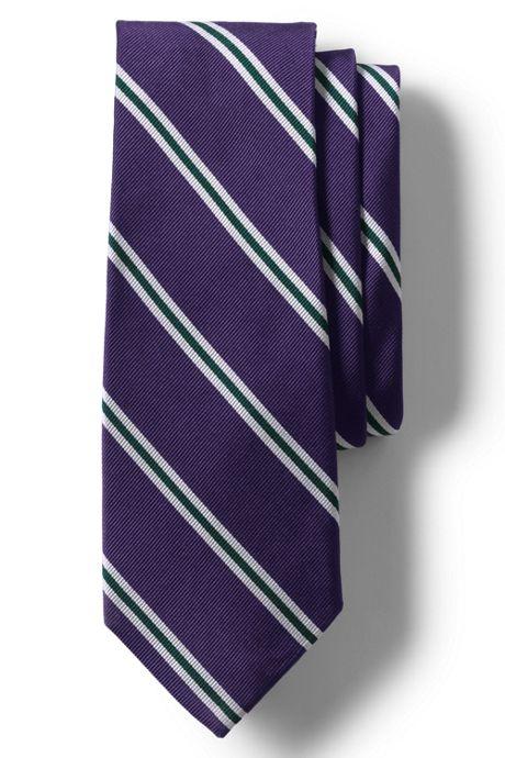 Men's Long Silk Wide Bar Stripe Tie