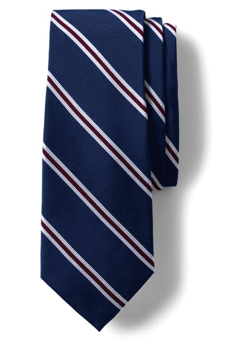 Men's Long Silk Wide Bar Stripe Tie