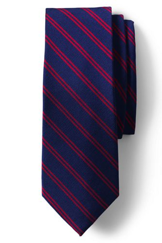 Men's Double Stripe Hand-sewn Silk Tie