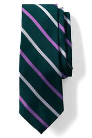 Men's Long Silk Wide Stripe Tie