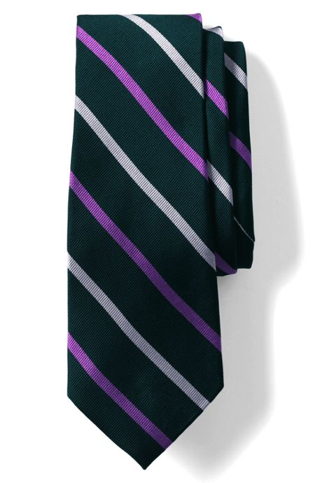 Men's Long Silk Wide Stripe Tie