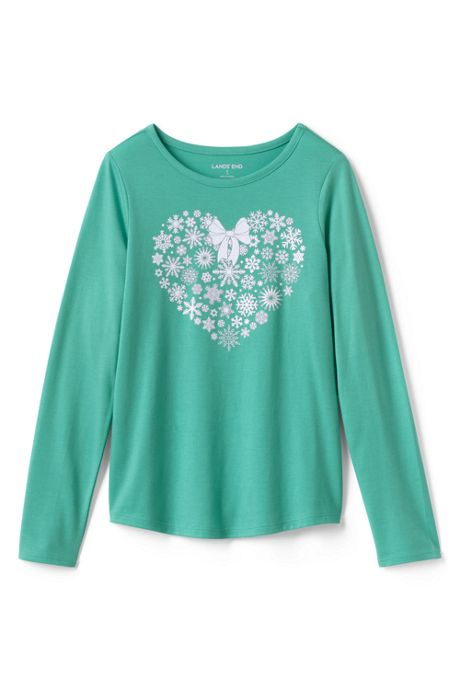 Girls Plus Size Graphic Long Sleeve Tee