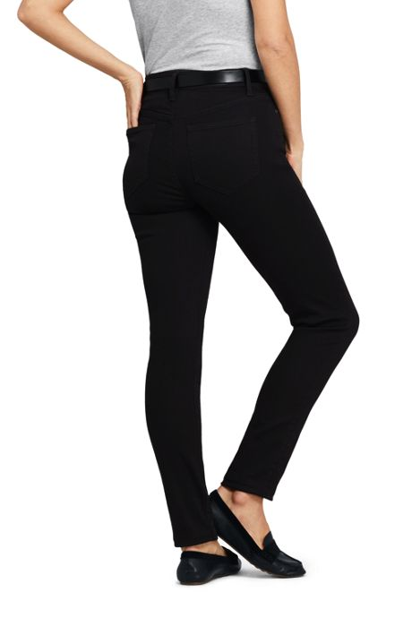 Women's Mid Rise Curvy Black Skinny Jeans