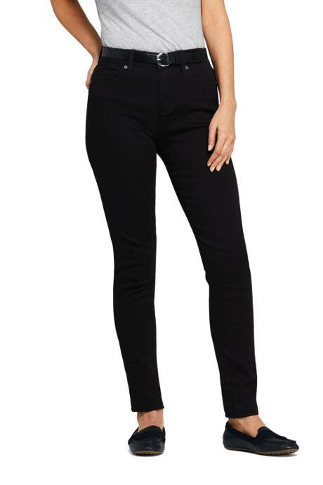 Women's Mid Rise Curvy Skinny Twill Jeans - Black