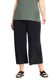 Women's Plus Size Matte Jersey Wide Leg Crop Pants