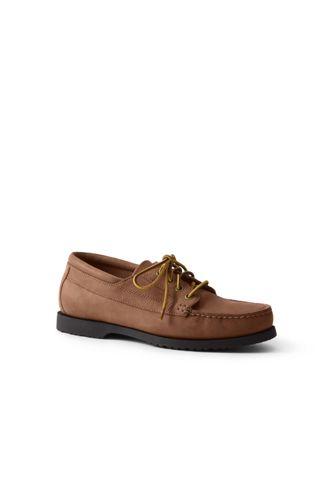 Men's Leather Lace-up Moc Shoes