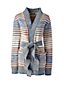 Women's Striped Tie-Waist Cardigan