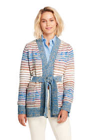 Women's Petite Lofty Blend Tie Cardigan Sweater