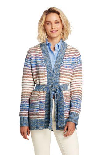Women's Striped Tie-Waist Cardigan