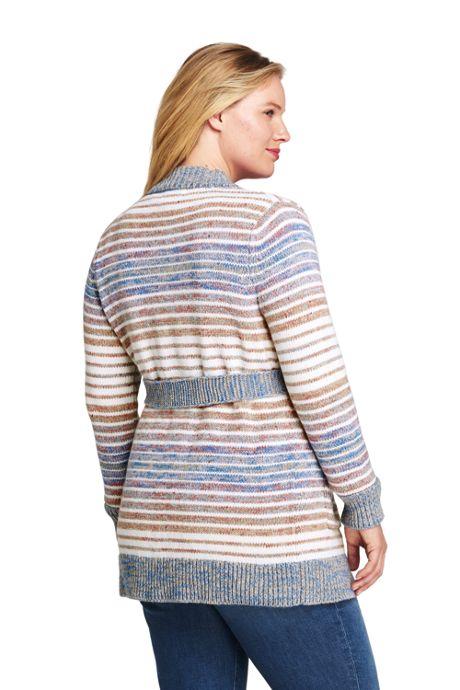 Women's Plus Size Lofty Blend Tie Cardigan Sweater