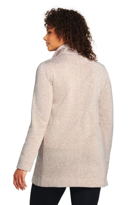 Women's Plus Size Sweater Fleece Coat