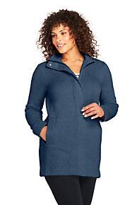 954b28480f4 Women s Plus Size Sweater Fleece Coat