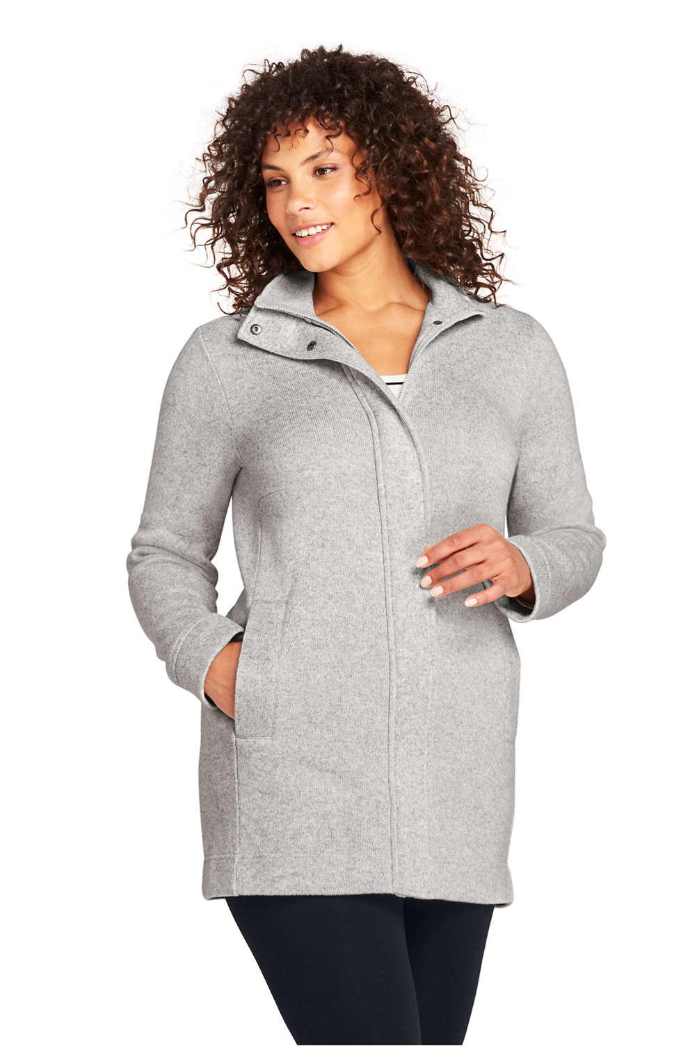 8fff0ffe2 Women s Plus Size Sweater Fleece Coat from Lands  End