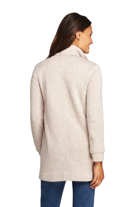 Women's Tall Sweater Fleece Coat