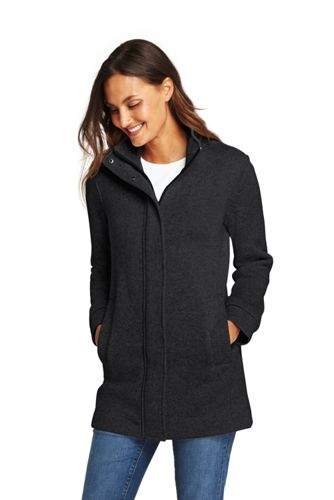 Women's Plus Sweater Fleece Coat