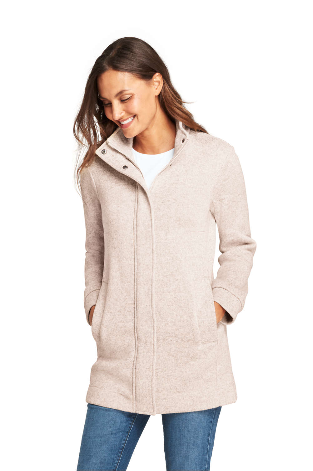 827b38765 Women s Sweater Fleece Coat from Lands  End
