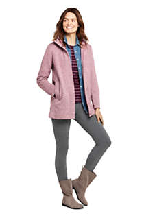 Women's Petite Sweater Fleece Coat, alternative image