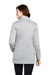 Women's Tall Sweater Fleece Coat, Back