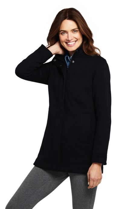 Women's Petite Sweater Fleece Coat