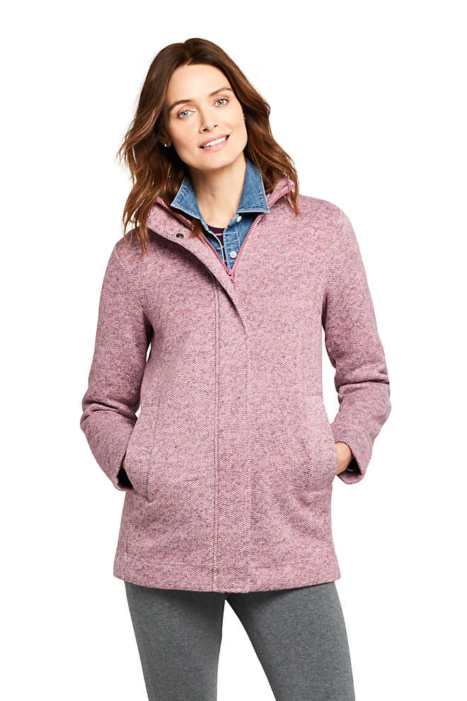 Women's Tall Sweater Fleece Coat, Front
