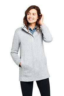 Lange Strickfleece-Jacke für Damen
