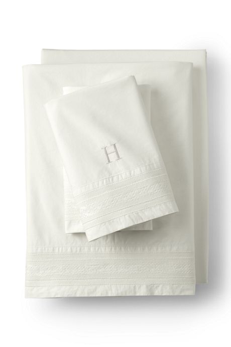 200 Percale Embroidered Pillowcases (Set of 2)