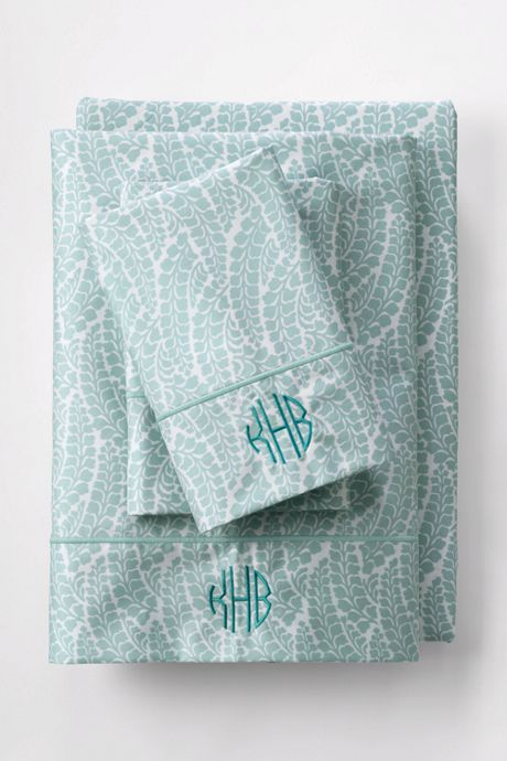 No Iron Fern Print Pillowcases (Set of 2)