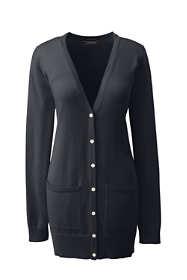 Women's Supima Cotton Long V-neck Cardigan Sweater