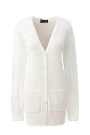 Women's Supima Cotton Long V-neck Cardigan Sweater