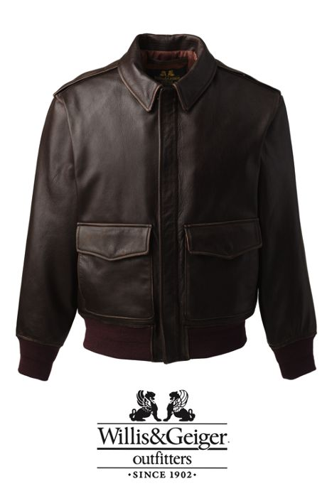 Men's Willis & Geiger Leather Bomber Jacket
