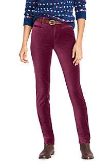 Mittelhohe Slim Fit Samt-Jeans für Damen