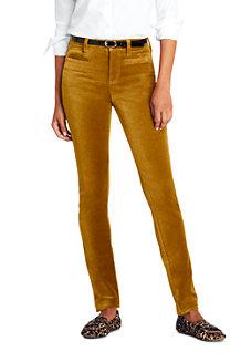 Women's Mid Rise Slim Velvet Jeans