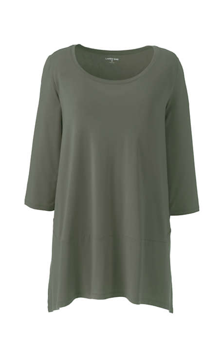 Women's Plus Size 34 Sleeve Pieced Tunic