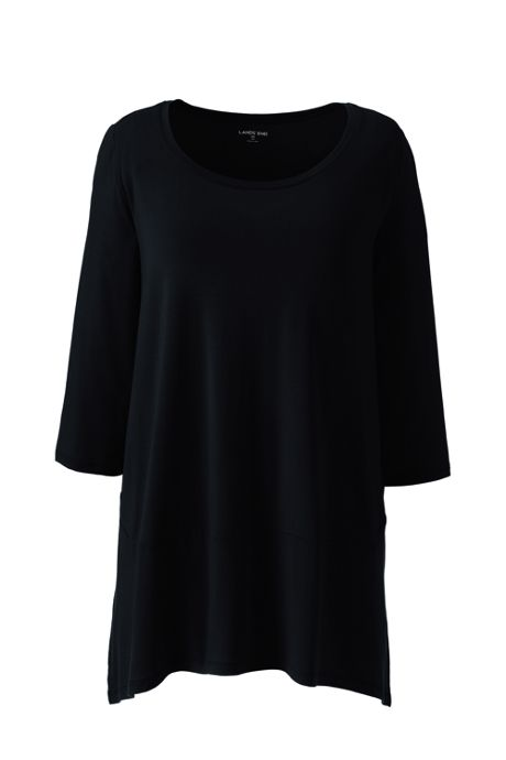 Women's Plus Size 3/4 Sleeve Pieced Tunic