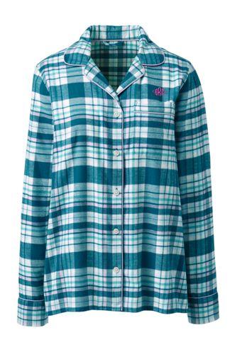 Women's Plaid Flannel Pyjama Top