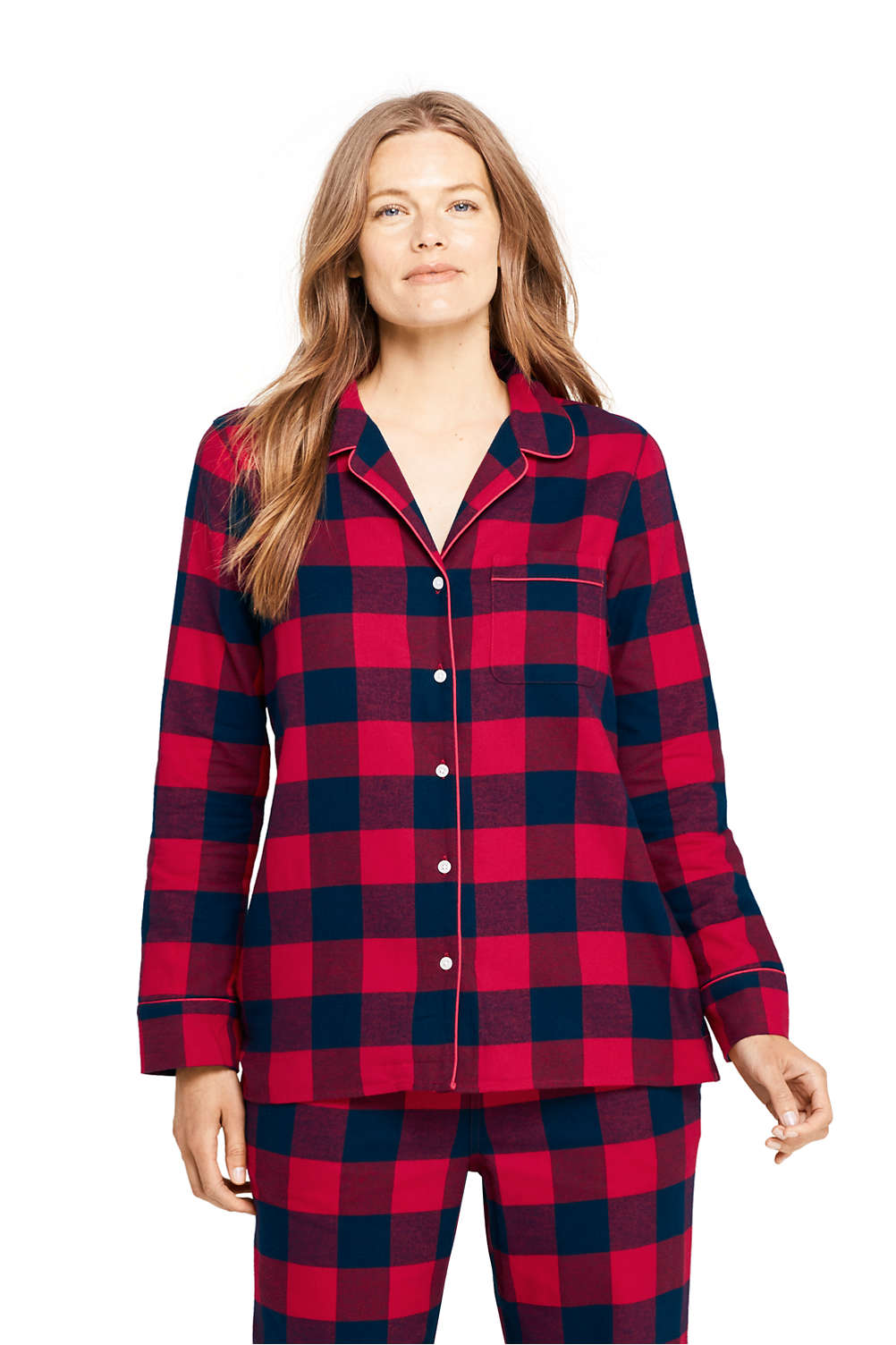 7aafcea7a7f Women's Print Flannel Pajama Top from Lands' End