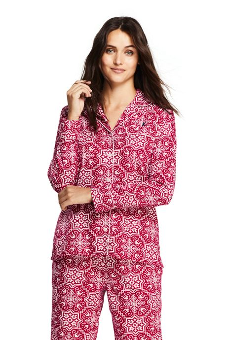 Women's Print Flannel Pajama Top