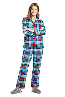 Women's Long Sleeve Print Flannel Pajama Top, alternative image