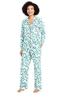 Women's Tall Long Sleeve Print Flannel Pajama Top, Unknown