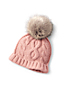 Girls' Knitted Pom-Pom Hat