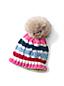 Girls' Knitted Pom-Pom Hat