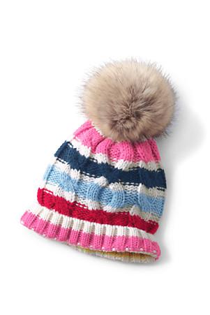 0ff1c5e58 Girls' Knitted Pom-Pom Hat