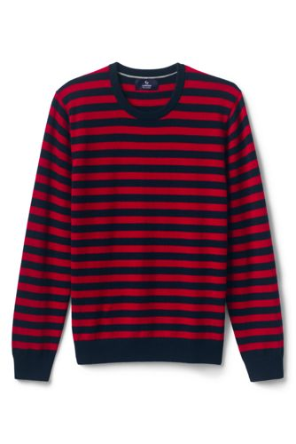 Men's Striped Crew Neck Cashmere Jumper
