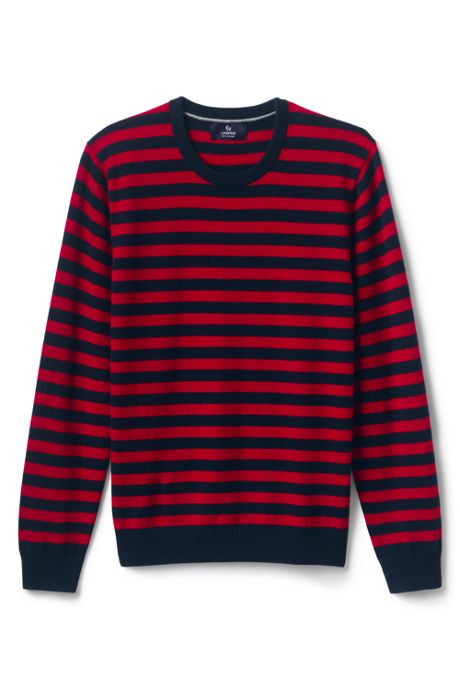 Men's Fine Gauge Cashmere Stripe Sweater