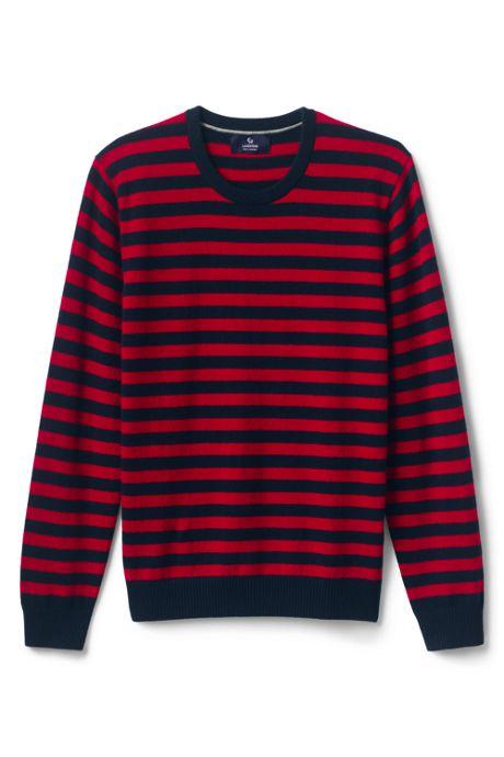 Men's Fine Gauge Cashmere Stripe Sweater