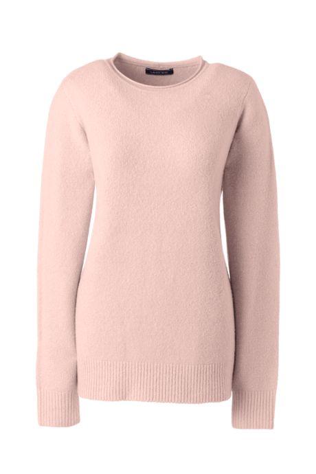 Women's Plus Size Boucle Roll Neck Sweater